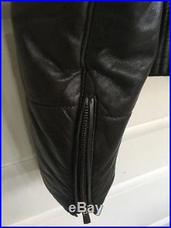 Blouson Ventcouvert cuir marron capuche amovible Doudoune -Veste Jacket T 42