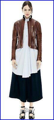 Blouson Veste Acne Mabel Studio Leather Jacket Cuir Veau Woman FR 36, IT40, UK8