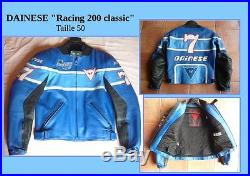 Blouson Veste Cuir moto DAINESE Racing 200 classic taille 50 comme NEUF
