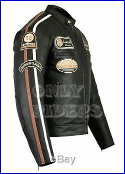 Blouson Veste En Cuir Homme Moto, Moto, Biker Jacket, Retro Vintage, S a 5XL