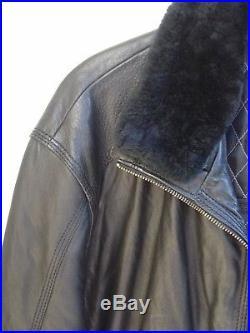 Blouson / Veste En Cuir Pierre Cardin Taille 56/58 Fr / It 62 Parfait Etat