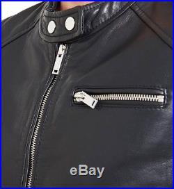Blouson Veste En Cuir dagneau De Marque IKKS Taille M neuf Avec Étiquette