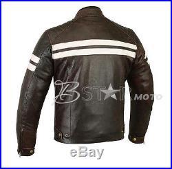 Blouson Veste En Cuir pour Moto Homme Motard Sport Cuir Biker Taille S a 4XL