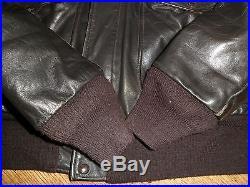 Blouson Veste Flight Jacket Cuir /i. S. 674. M. S /schott/made In Usa/40 /bon Etat