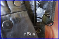 Blouson Veste Jacket DIOR HOMME Cuir Leather Black Biker France 46 S M Zip SS09