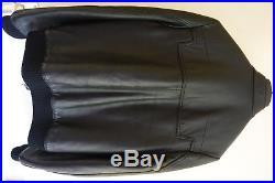 Blouson Veste Jacket DIOR HOMME Justice Cuir Leather Navigate Sz 46 S M Zip FW07