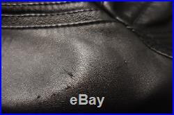 Blouson Veste Jacket DIOR HOMME Noir Black Cuir Leather Sz 48 M Medium Zip FW08