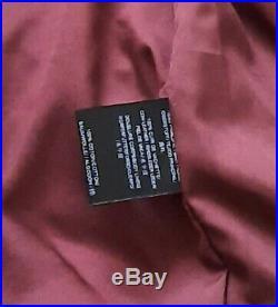 Blouson Veste Perfecto Leather Cuir Véritable Rouge Bordeaux Aviatrix S
