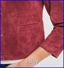 Blouson Veste Promod Femme Neuf 100% Cuir Bordeaux Taille 44