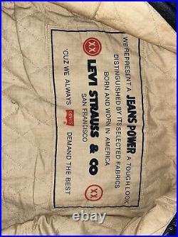 Blouson Vintage Coupe Veste En Jeans En Cuir Véritable Lévi-Strauss