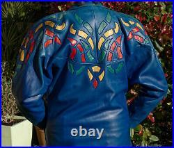 Blouson Vintage Cuir Jc Jitrois Taille L/42 /giacca/chaqueta/jacket Leather
