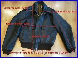 Blouson Vintage Schott Is-674-ms Flight Jacket Brown Leather Size 44