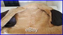 Blouson / bombardier aviateur pilote veste cuir peau mouton taille XL