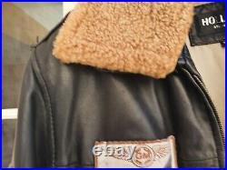 Blouson cuir Aviateur marron