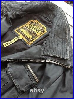 Blouson cuir SUPERDRY. Taille XL