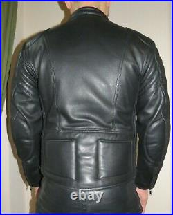 Blouson cuir look moto S Leather jacket biker S