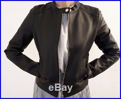 Blouson cuir neuf, Comptoir des Cotonniers, étiquette, veste cuir noir taille M