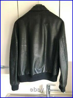 Blouson cuir noir homme Ralph Lauren Taille M Neuf