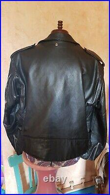 Blouson cuir perfecto homme Schott années 80 XL noir très bon état