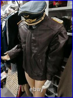 Blouson cuir pilote allemand WWII VESTE MILITAIRE GERMAN aviateur