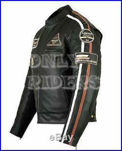 Blouson en Cuir, Biker, Veste Moto, Homme blouson, Quad, Chopper, Mc Jacket