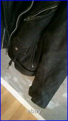 Blouson en cuir Perfecto avec motif Mano Negra