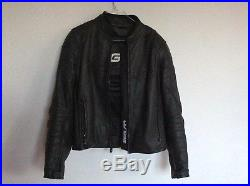 Blouson en cuir Segura de moto M cintré noir veste manteau protections mixte