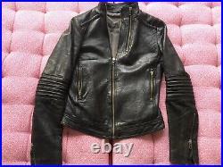 Blouson en cuir noir Zadig & Voltaire T XS = 36 (moto)