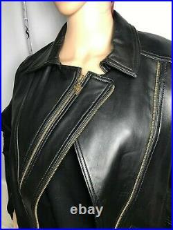Blouson en cuir noir style perfecto taille 42