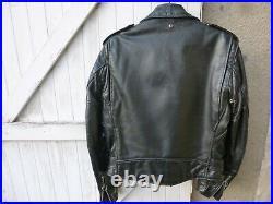 Blouson en cuir noir véritableperfecto de schott made in usa taille 40