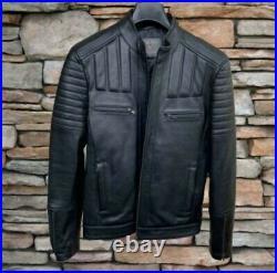 Blouson en vrai cuir, veritable pour les hommes, Leather Jacket for M'en 2021