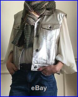 Blouson gilet veste CLAUDIE PIERLOT cuir neuf avec etiquette