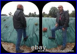 Blouson jacket style Perfecto en Cuir de vachette M L XL XXL XXXL bikers pun