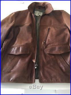 Blouson/manteau Cuir/anorak/parka/veste/gilet/bomber/biker Avirex Marron T. L
