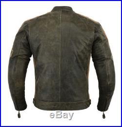 Blouson moto cuir de MOTARD Hommes Rétro Marron Veste NEUF S M L XL 2XL 3XL