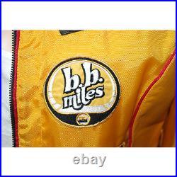 Blouson moto cuir et nylon jaune BOMB BOOGIE femme
