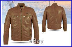 Blouson moto, veste, cuir, moto, veste en cuir Atrox at-839 gr. M 2XL