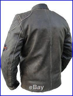 Blouson moto, veste, cuir, moto, veste en cuir sd506 gr. L