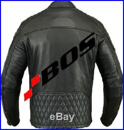 Blouson moto, veste en cuir, Chopper Veste, noir motocycle Chopper Veste