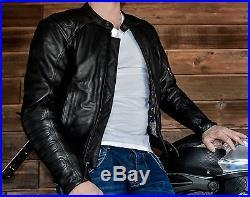 Blouson moto, veste, moto, veste en cuir Atrox nf1112 gr. XL