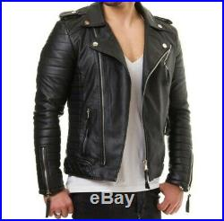 Blouson véritable Cuir Homme Perfecto Noir Fashion Japan style taille S