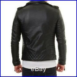 Blouson véritable Cuir Homme Perfecto Noir Fashion Japan style taille XL