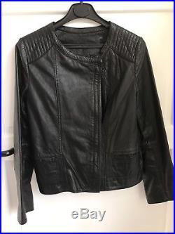 Blouson veste Cuir noir Swildens 38