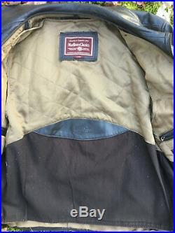 Blouson veste Marlboro Classic cuir de vachette taille L made in Italie