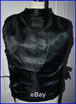 Blouson veste courte MAC DOUGLAS cuir d'agneau fin et léger neuf avec étiquette