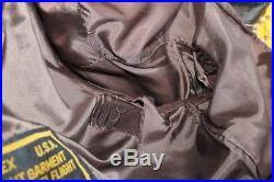 Blouson veste cuir homme aviator air force AVIREX B-15 marron cuir taille L/XL
