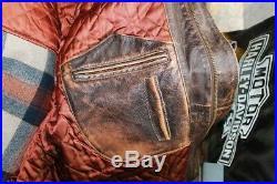 Blouson veste cuir homme aviator air force marron cuir taille XL