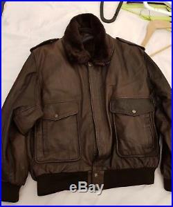Blouson veste cuir leather aviateur aviator mac douglas redskins L 52