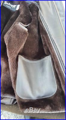 Blouson veste cuir pilote Original 184 SM Marron Schott usa A2