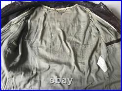 Blouson veste en cuir IKKS taille 42 marron très bon état 425